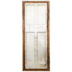 Salvaged 4 Panelled Pine Door, 20th Century