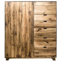 Salvaged Barn Wardrobe in Reclaimed White Oak by Hopes Woodshop