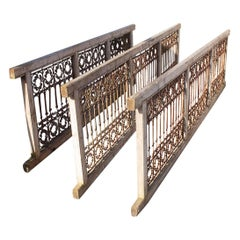 Salvaged Decorative Wrought Iron Grilles, 20th Century