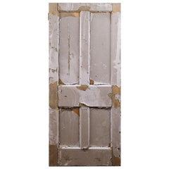 Salvaged Four Panel Old Pine Door, 20th Century