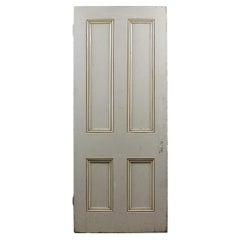Salvaged Four Panel Pine Old Door, 20th Century
