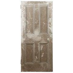 Salvaged Four Panel Pine Victorian Door, 20th Century