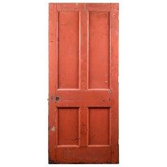 Salvaged Four Panel Victorian Door, 20th Century