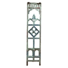 Salvaged Iron Balustrading Painted Red Green, 20th Century