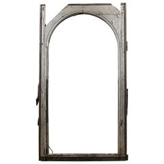 Salvaged Large Arched Window Frame, 20th Century