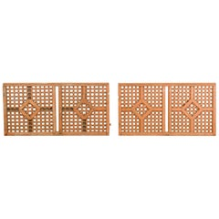 Salvaged Moroccan Fretwork Wooden Panels, 20th Century