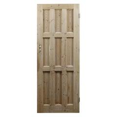 Salvaged Multi Panel Pine Door, 20th Century
