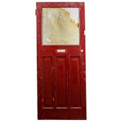 Salvaged One over Three Panel Door, 20th Century