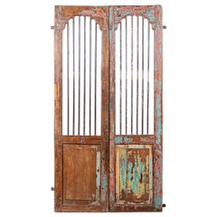 Salvaged Pair of Teak Jali Doors, 20th Century