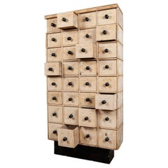 Salvaged Pine Chest of 48 Drawers, 20th Century