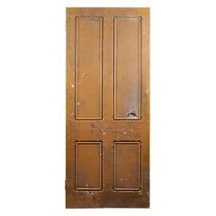 Salvaged Pine Four Panel Beaded Door, 20th Century