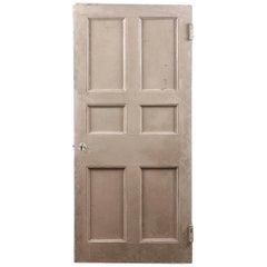 Salvaged Six Panel Beaded Old Door, 20th Century