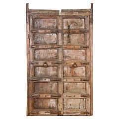 Salvaged Teak Indian Door, 20th Century