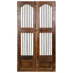 Salvaged Teak Indian Jali Doors, 20th Century