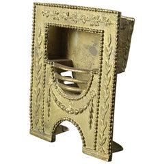 Salvaged Tradesman Sample Ornate Fire Grate, 20th Century