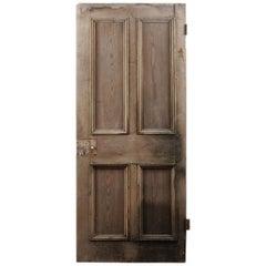Salvaged Victorian Four Panel Door, 20th Century