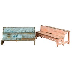Salvaged Vintage Indian School Benches, 20th Century
