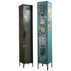 Salvaged Vintage Industrial Metal Lockers, 20th Century