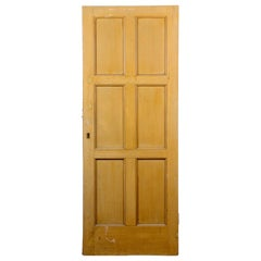 Salvaged Vintage Six Panel Door, 20th Century