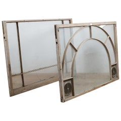 Salvaged Window with Arched Detail, 20th Century