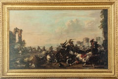(attr.) Salvator Rosa, Battle, oil on canvas
