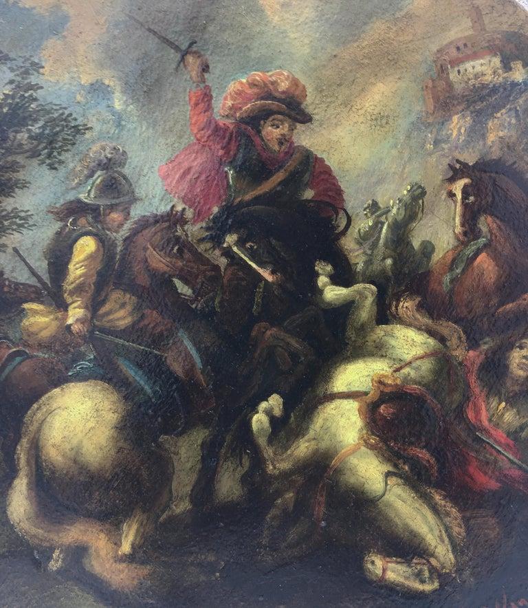Land battle - Salvatore Alfano Italia 2006 - Oil on canvas cm.40x40