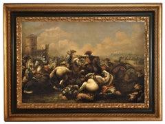 Cavalry Battle - Salvatore Alfano Oil on Canvas Italian Figurative Painting