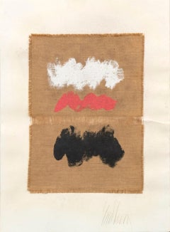 Untitled - Mixed Media on Jute Canvas - 1970s