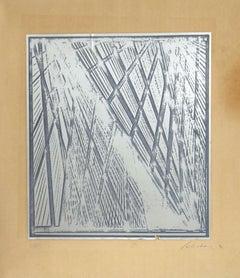 Composition - Original Screen Print by Salvatore Emblema - 1970