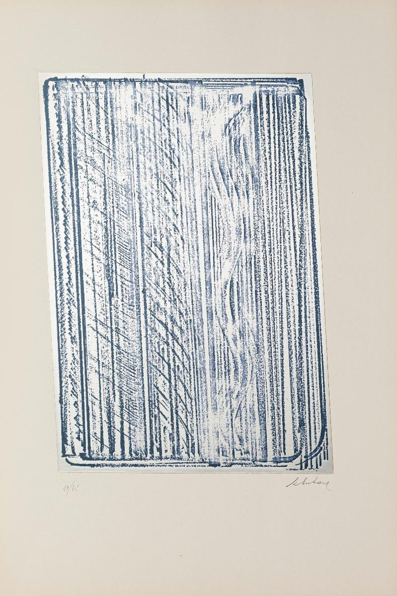 Composition - Original Screen Print on Metal by Salvatore Emblema - 1970
