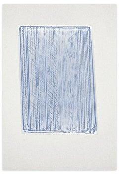 Composition - Original Silk-Print on Metal by Salvatore Emblema - 1970