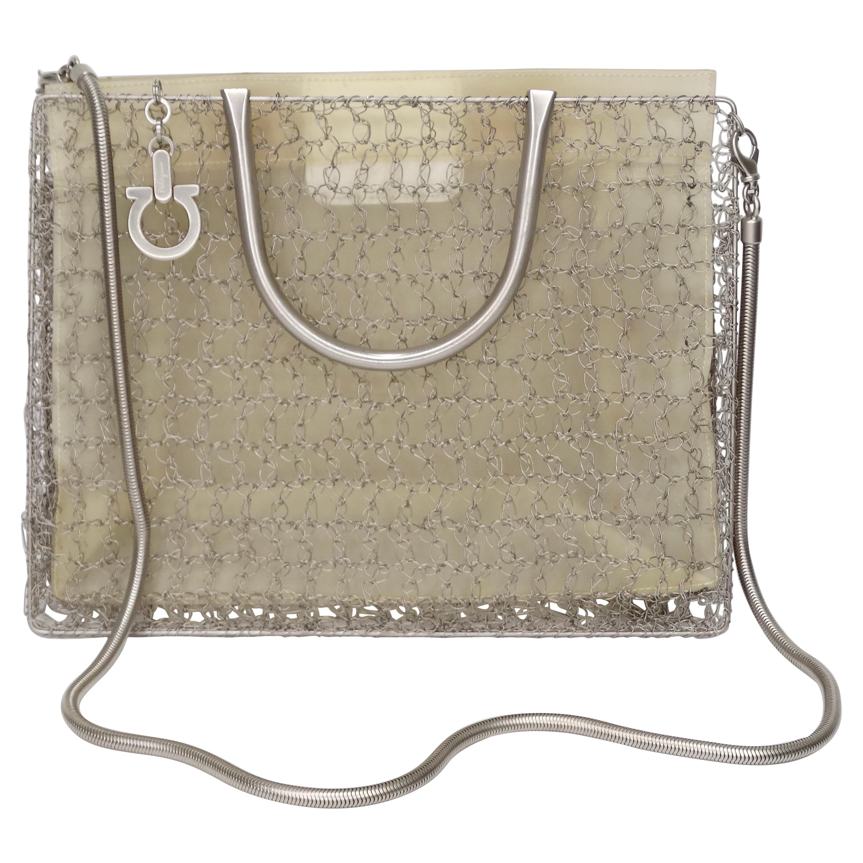 Salvatore Ferragamo 1980s Wire Crochet Handbag