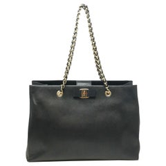 Salvatore Ferragamo 21-F561BK Vara Saffiano Leather Tote Women's Bag- MAKE OFFER