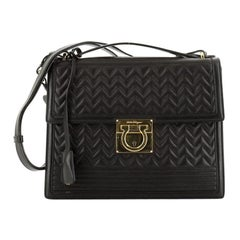 Salvatore Ferragamo Aileen Shoulder Bag Quilted Leather Medium
