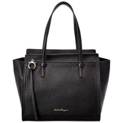 Salvatore Ferragamo Amy Leather Black Tote Ladies Bag 21F215612616