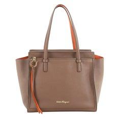 Salvatore Ferragamo Amy Tote Pebbled Leather Medium
