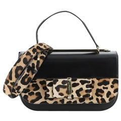 Salvatore Ferragamo Anna Vara Top Handle Bag Leather and Printed Calf Hai