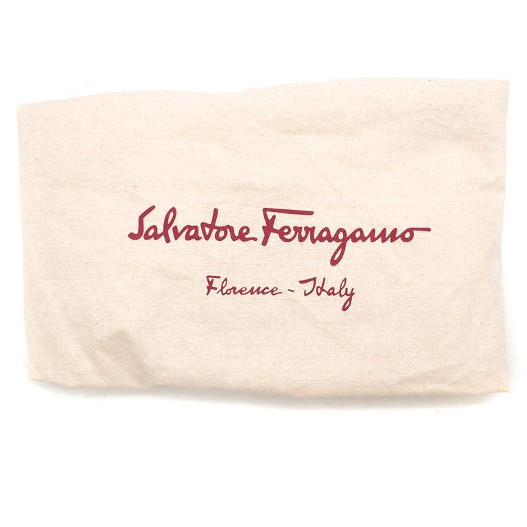 Salvatore Ferragamo Beige Woven Basket/Leather Shoulder Bag   For Sale 6