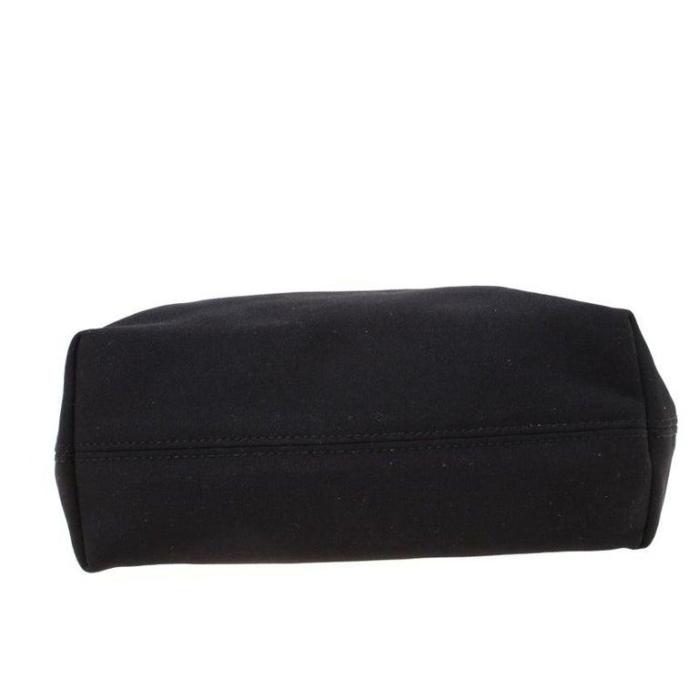 Salvatore Ferragamo Black Canvas Shoulder Bag For Sale 6