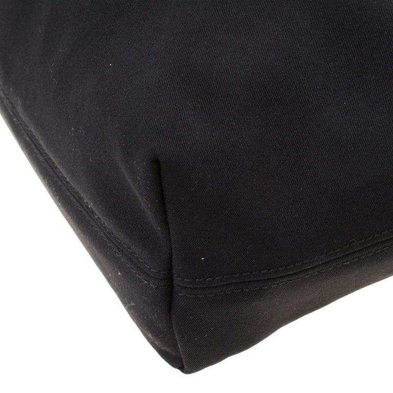 Salvatore Ferragamo Black Canvas Shoulder Bag For Sale 4