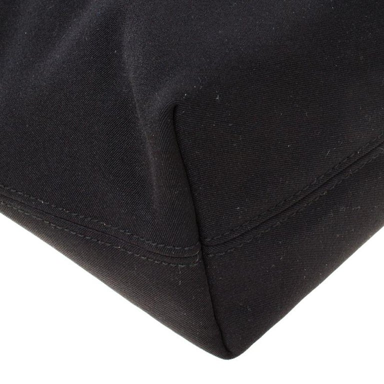 Salvatore Ferragamo Black Canvas Shoulder Bag For Sale 5