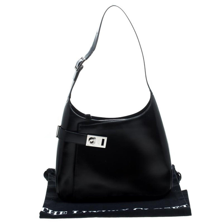 Salvatore Ferragamo Black Leather Gancio Hobo For Sale at 1stdibs 9281ea88029a2