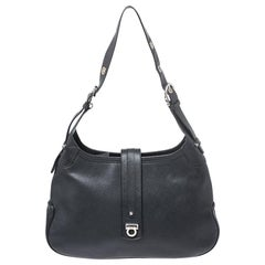 Salvatore Ferragamo Black Leather Hobo