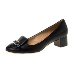 Salvatore Ferragamo Black Leather Pumps Size 40