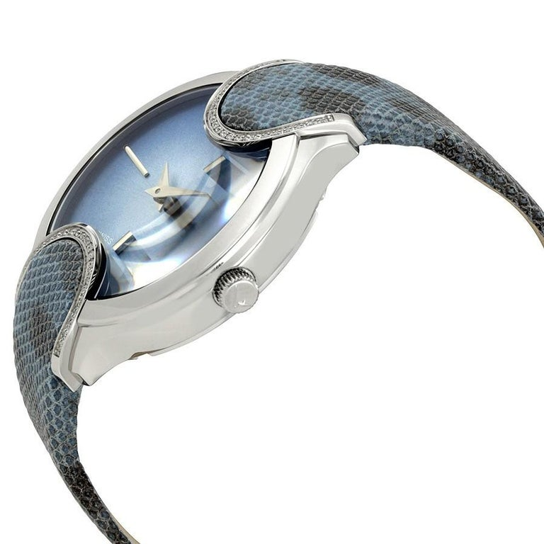 Salvatore Ferragamo Blue Stainless Steel FIZ040015 Women's Wristwatch 38MM In New Condition For Sale In Dubai, Al Qouz 2