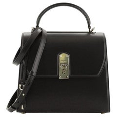 Salvatore Ferragamo Boxyz Top Handle Bag Leather Large