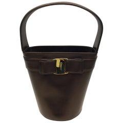 Salvatore Ferragamo Bronze Bucket Bag
