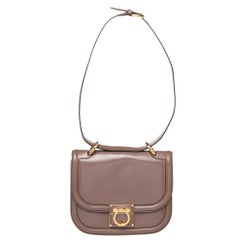 Salvatore Ferragamo Brown Leather Jody Shoulder Bag