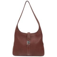 Salvatore Ferragamo Brown Leather Shoulder Bag
