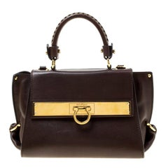 Salvatore Ferragamo Brown Leather Tote
